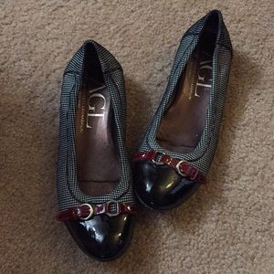 AGL houndstooth pattern flats